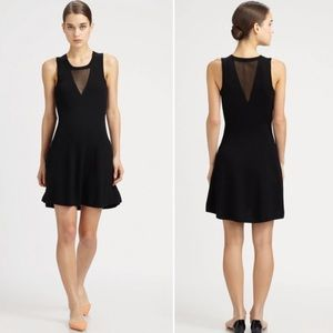 3.1 Phillip Lim Semi-Sheer Mesh Cut Out Knit Dress